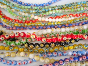 6mm and 8mm Millefiori - 10 Strands each
